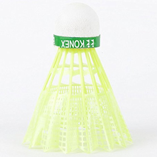 Picture of KONEX Yellow Nylon Badminton Shuttle Cock -Pack of 6