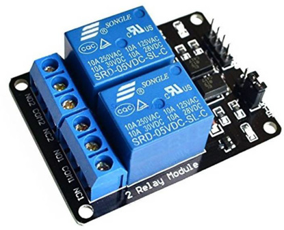 Picture of GROSSIL 2 Channel 5V Relay Module Relay Control for Arduino DSP AVR PIC ARM