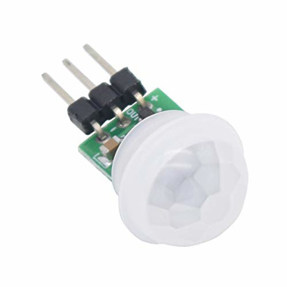 Picture of GROSSIL IR Pyroelectric Infrared PIR Motion Sensor Detector Modules DC 2.7 to 12V(Pack of 5pcs)
